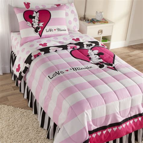 minnie mouse comforter disney minnie mouse sheet set home bed bath