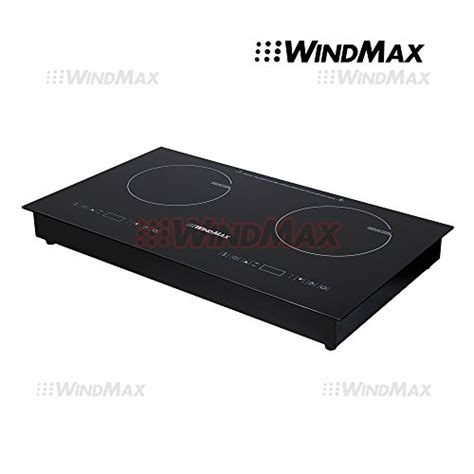 2 hob induction cooktop windmax 174 28 inch fixed glass plate timmer induction