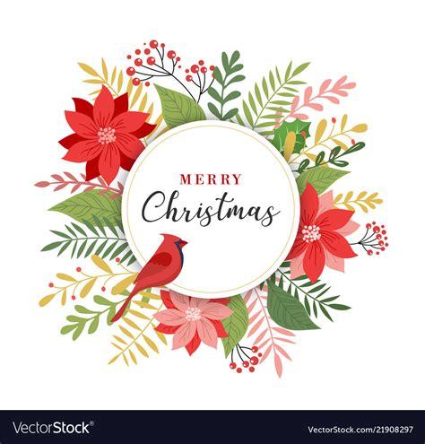 merry christmas greeting card  elegant modern vector image