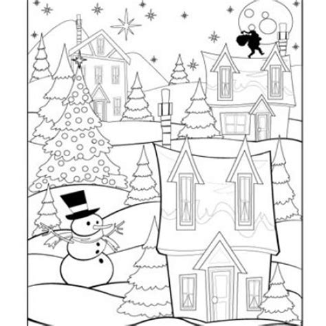 christmas village coloring page christmas fun for kids