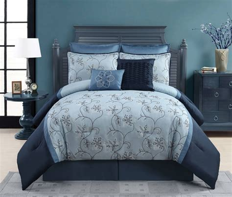blue comforter king ophelia 8 piece king comforter set ebay