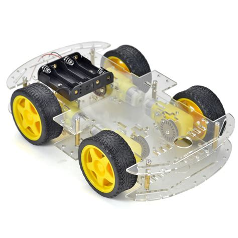 Smart Car Chasis 4wheel Arduino Smart Robot Car Chassis Kit Tracingcar 1 dc 6v 4 wheel robot smart car chassis kits with tachometer