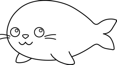 cute seal coloring pages free coloring pages of cute seal