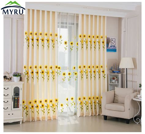 myru blue castle shade cloth curtain childrens bedroom popular sunflower curtains bedroom buy cheap sunflower