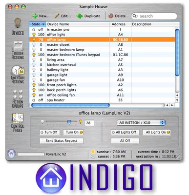 perceptive automation s indigo insteo compatible home