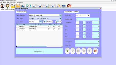 membuat aplikasi database dengan java mysql dan netbeans source code sistem informasi akademik pendataan nilai