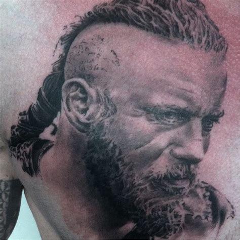 ragnar lothbrok dragon tattoo real face ragnar lothbrok tattoo golfian com