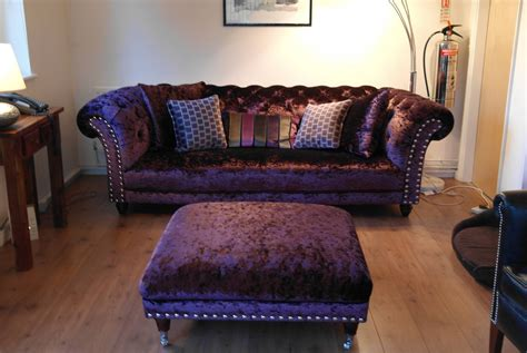 collection  velvet purple sofas