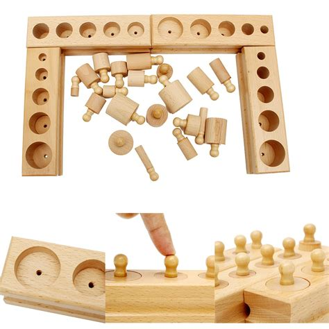 compare prices on knobbed cylinders montessori