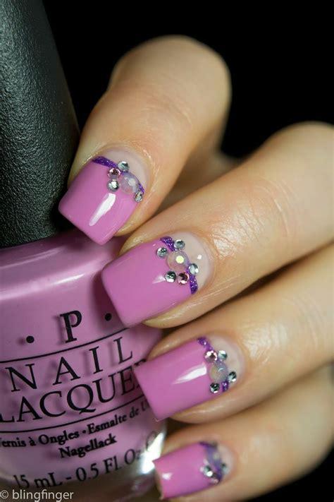 diy nail art tutorials rhinestones designs step  step