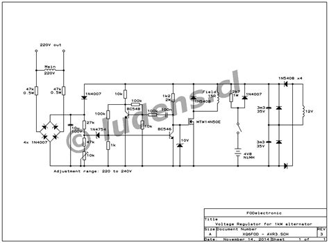 ac generator voltage regulator wiring diagram new wiring