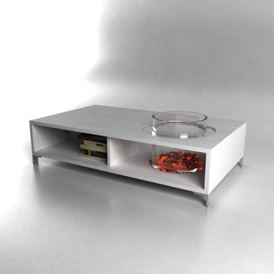 Coffee Table Fireplace 3d Contemporary Coffee Table Fireplace