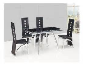 Small Glass Dining Table And Chairs Small Black Extending Glass Dining Table And 4 Black Chairs