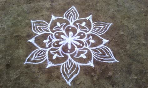 flower design muggulu mungita muggulu simple daily flowers muggulu
