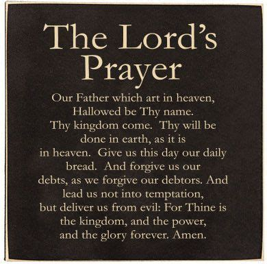 bible text with the blessings the text features the lord s prayer a smaller sign with