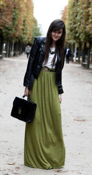 maxi skirt leather jacket fall fashion trends
