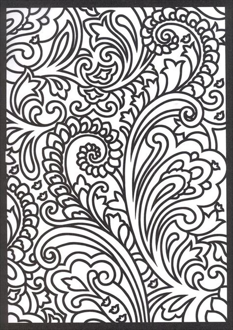 coloring book page designs paisley coloring pages free google search glass design