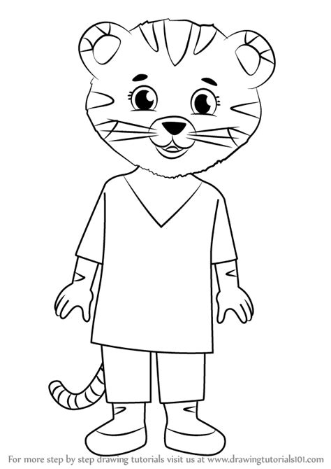 How To Draw Daniel Tiger learn how to draw tiger from daniel tiger s