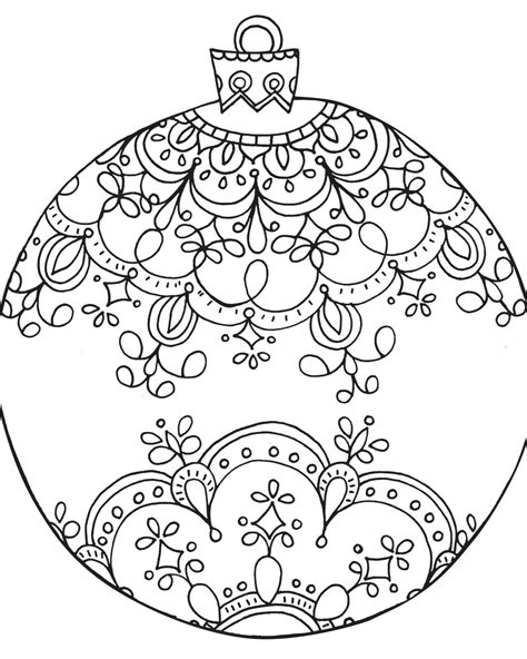 google printable christmas adult ornaments curly cue ornament this pattern
