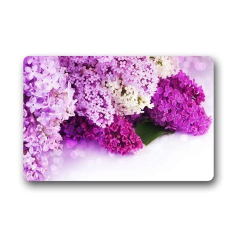 Purple Doormat by Charmhome Door Mat Pretty Purple White Pink Flowers Lilac