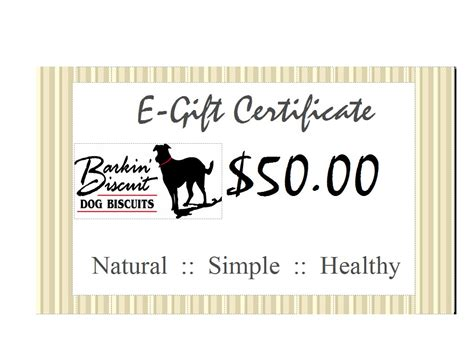 How Do E Gift Cards Work - fifty dollar e gift card barkin biscuit