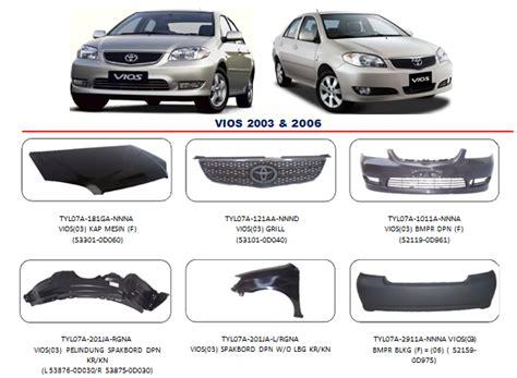Accu Mobil Vios bodypart toyota vios 2003 2006 auto part mobil