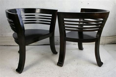 Modern Barrel Chair by Pair Of Modern Barrel Chairs For Sale At 1stdibs