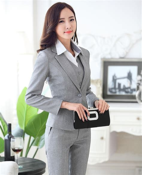 Set 3in1 Annica Flower Shirt Grey Vest With Black Skirt popular womens 3 pant suit buy cheap womens 3 pant suit lots from china womens 3