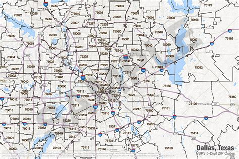 texas zip code maps dallas texas zip code map my