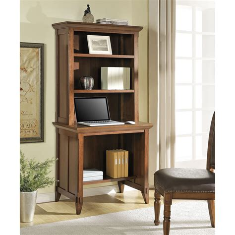 desk with bookcase altra amelia desk with hutch bookcase cherry