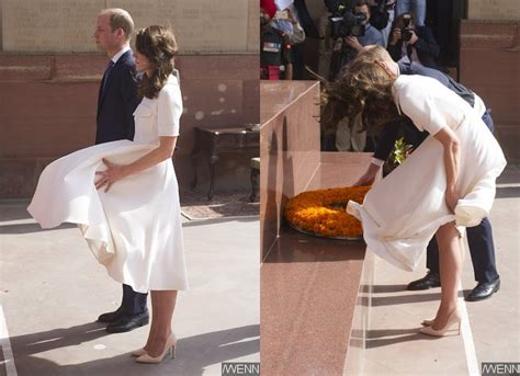 Wind Wardrobe by Kate Middleton Suffers Wardrobe While
