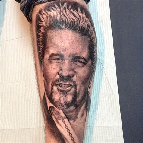 guy fieri tattoo robertson painted lotus studios