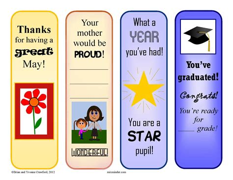printable reward bookmarks may reward bookmarks mixminder