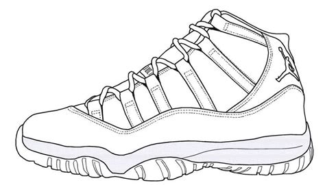 printable coloring pages jordans jordan shoe coloring pages coloring home
