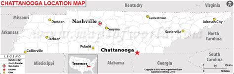 map of chattanooga tn where is chattanooga tennessee
