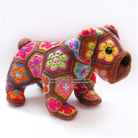 free pattern heidi bears max the african flower bulldog crochet pattern