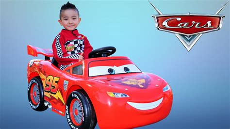lighting mcqueen ride on car unboxing disney cars lightning mcqueen battery powered