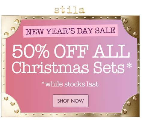 new years day sale stila uk get ready for the stila new year s day sale