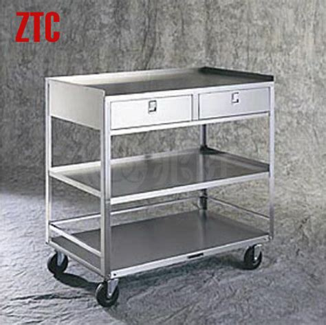 Metal Storage Drawers On Wheels by Dressing Handcart With Drawers 3 Shelf Medicine