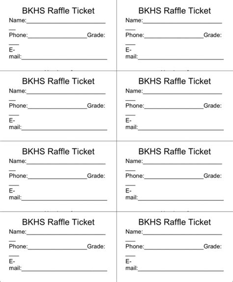 Raffle Ticket Templates Word Templates Docs Editable Ticket Template Free