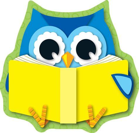 owl reading book reading owl mini cut outs cd 120134