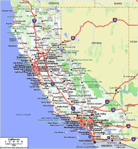 map of california coastline highway 80 coast to coast highway