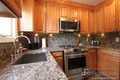 natural oak kitchen cabinets natural oak cabinets kitchen traditional with glass tile