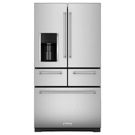 kitchen aid appliances reviews kitchenaid 25 8 cu ft french door refrigerator in