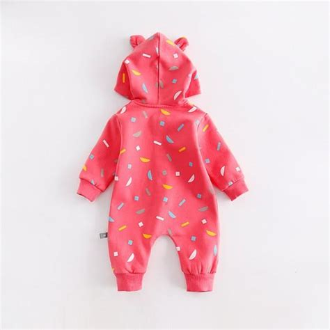 Fox Jumpsuit Pink baby s lovely fox hooded jumpsuit in pink patpat