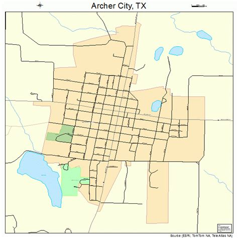 city texas map archer city texas map 4803696