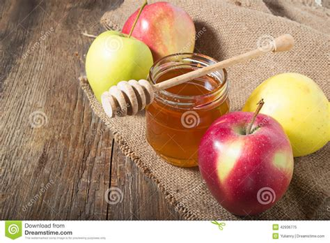 apple new year honey with apple for rosh hashana stock photo image