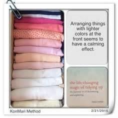 Konmari method arranging by color more