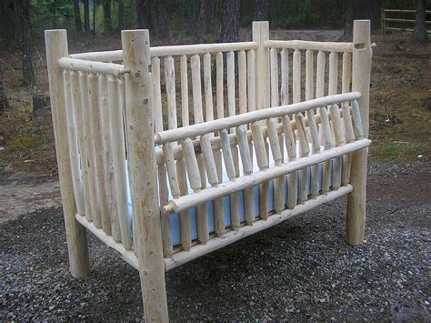 How To Make Baby Crib Creator Birthplace Of The Convertible Log Baby Crib Montana Custom Log Furniture