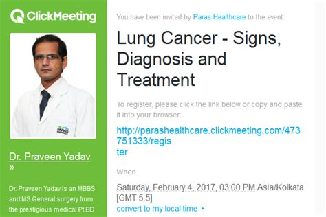 lung cancer from diagnosis to treatment books upcoming events find events at paras hospitals